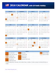 holiday calendar usa