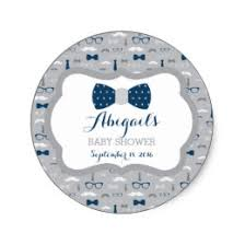 mustache and bow tie baby shower bow tie baby shower stickers zazzle