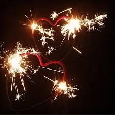 Sparklers Wedding Heart Sparklers Gold Wedding Sparklers
