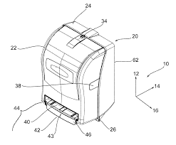 patent us20100176237 paper roll dispenser with sensor attached