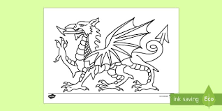 welsh flag colouring funycoloring