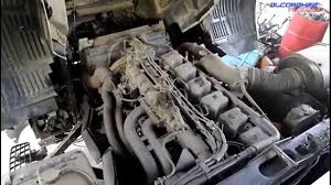 mitsubishi fuso 6d24 engine view youtube