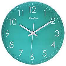 silent wall clocks amazon com sonyo indoor non ticking silent quartz modern simple