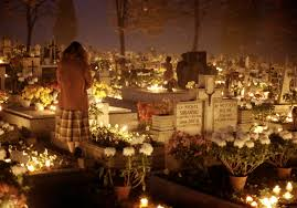 instead of halloween hungarians head to the cemeteries for all
