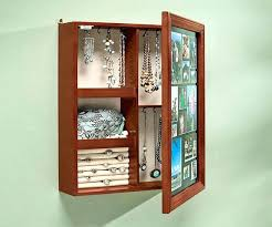 wall mounted jewelry cabinet wall mount jewelry armoire fifty2 co