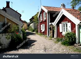 cute old town red houses scandinavian stock photo 1550048 cute old town red houses scandinavian style