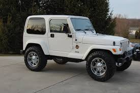 modified white jeep wrangler 98whitewrangler 1998 jeep wranglersahara sport utility 2d specs