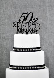 50th cake topper 50th cake topper glitter gold fabulous at 50 birthday 50th 50th