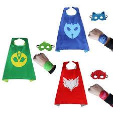 2017 3 styles pj masks cloak cape bracelet mask catboy