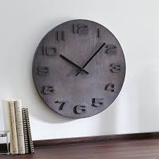 Crate And Barrel Wall Sconce Ryder Modern Wall Clock Crate And Barrel