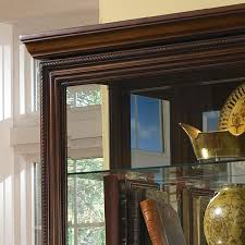 clockway pulaski madison 43in wide curio cabinet solid wood in