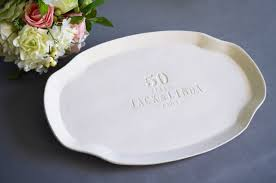 personalized ceramic platters anniversary gift or signature guestbook platter personalized with pa