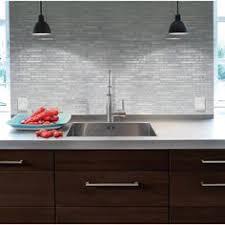 Decorative Wall Tiles Kitchen Backsplash Smart Tiles Bellagio Blanco 10 06 In W X 10 In H Peel And Stick