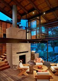 Outdoor Fireplace Surround by Barbecue In Legno Deck Contemporary With Concrete Fireplace