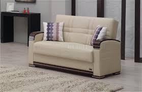 sofa bed in beige bonded leather by empire w options