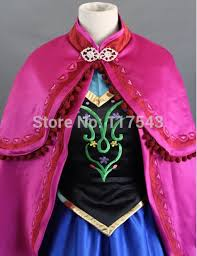 Anna Frozen Costume Online Shop Frozen Cosplay Costume Free Shipping Customized