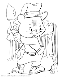teddy bear coloring pages free printable lumberjack bear