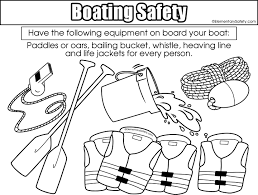 coloring boating safety