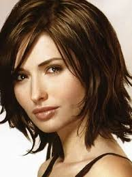 mid length hair cuts longer in front haircut women medium shoulder length in piecey layers side part