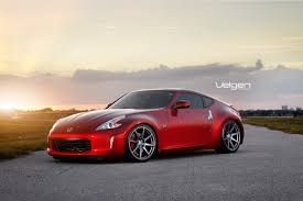 nissan 370z custom rims red nissa 370z velgen wheels
