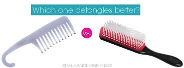 tooth comb the denman brush vs the wide tooth comb which detangles better