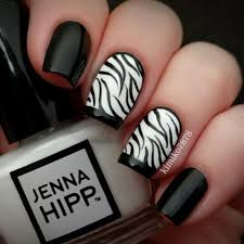 zebra pattern nail art nail designs zebra nail art with black and white nail paint