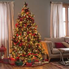Christmas Livingroom Carolina Pine Full Pre Lit Christmas Tree Hayneedle