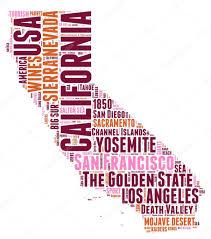 California State Map California Usa State Map Vector Tag Cloud Illustration U2014 Stock