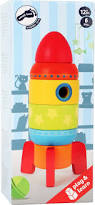 colourful stacking rocket shape fitting games toys for