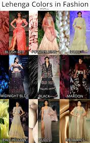 latest lehenga colors in fashion for winter 2017 18
