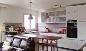 cuisine et salon dans la meme cuisine ouverte sur petit salon en image amenager newsindo co