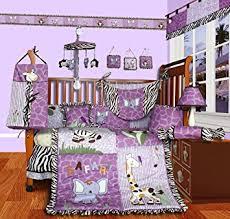 Girly Crib Bedding Sisi Baby Boutique Safari 15 Pcs Crib Bedding