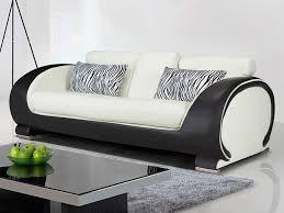 assise canapé canapé et fauteuil en simili bicolore 2 coloris heliades