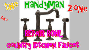 rohl country kitchen faucet repair rohl country kitchen faucet a3650 youtube