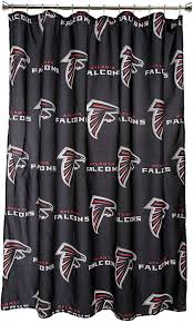 Dallas Cowboys Drapes by Amazon Com Nfl Atlanta Falcons Shower Curtain Sports U0026 Outdoors