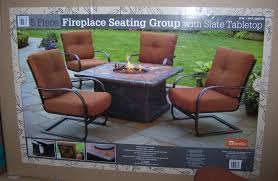 Propane Fire Pit Patio Sets Patio Set With Fire Pit Table Laura Williams