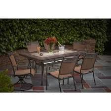 Hampton Bay Altamira  In Square Patio Dining TableDYT At - Glass top dining table home depot
