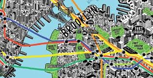 detailed map of new york nyc map feel desain