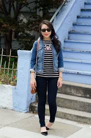 dress with blue jean jacket outdoor jacket