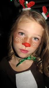 quick rudolph face bronzer for brown cheeks and acrylic paint for