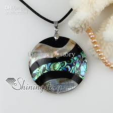 necklace pendant shell images Wholesale round patchwork shell necklaces abalone jewelry fashion jpg