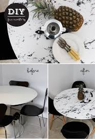 diy faux marble table top contact paper marbles and ikea hack