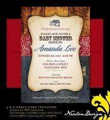 nealon design western cowboy baby shower invitation love how