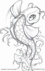 koi sketch love the clean lines good overhead shilouette
