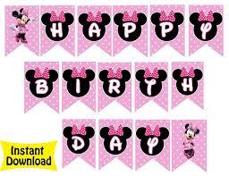 free printable minnie mouse birthday banners printable invitations