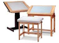 Drafting Table With Light Box Light Tables Hopper S Office And Drafting Furniture