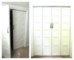 Closet Door Installation Closet Bifold Closet Door Pulls How To Install A Bi Fold Closet