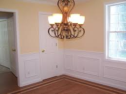 great home interior decoration using white wainscot chair rail