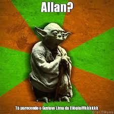 Allan Meme - allan tá parecendo o gustavo lima da etiópia kkkkkk meme