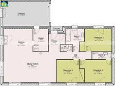 plan maison gratuit plain pied 3 chambres plan maison contemporaine plain pied en l 3 chambres et garage